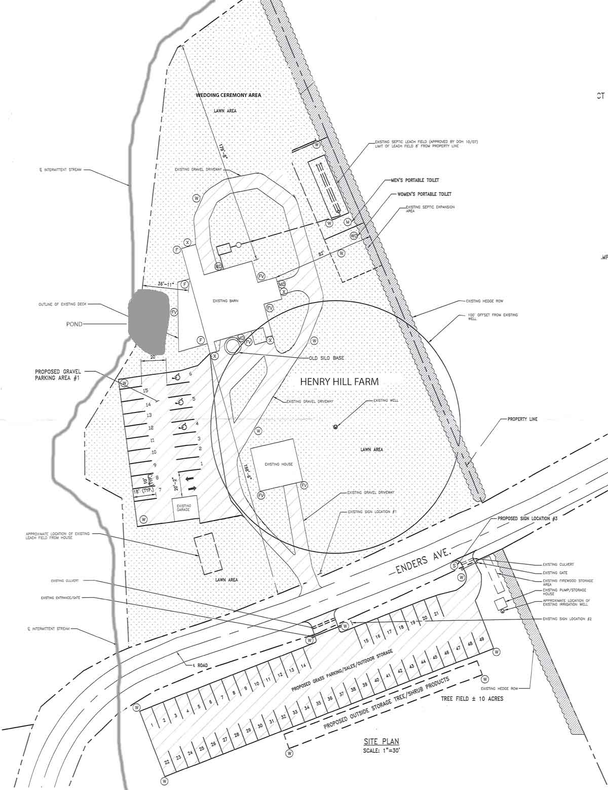 Layout of Henry Hill Farm