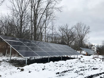 solar panels at henry hill farm