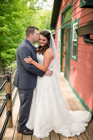 bridal couple at henry hill farm